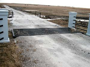 Example of a Cattle Guard installed