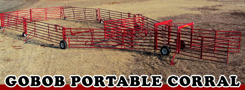 Gobob presents Portable Wheeled Corrals