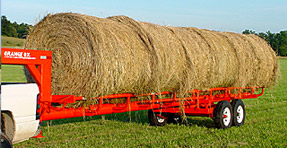 Orange Ox Hay Bale  Trailer