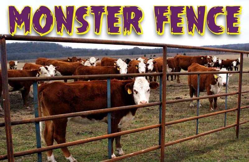 Monster Fence - Continuous Fence Panels that are Twice as Heavy than Conventional Fence Panels