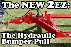 The New 2EZ Hydraulic Bumper Pull Bale Trailer