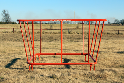 Gobob Pipe - Orange Ox - Hay Conserver Bale Feeder - Good for Cows, Bulls, Horses and nore!