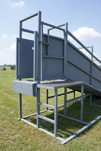Cattle Loading Chute Semi Trailer Dock