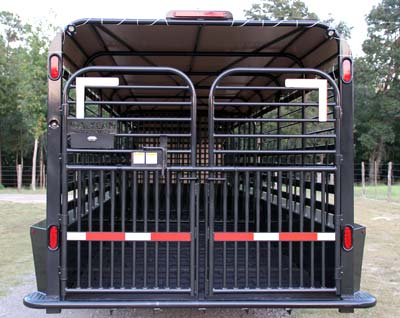 Galyean livestock trailer gobob pipe and steel galyean lives stock trailer heavy duty butterfly cattle gates from 2x4 tubing with pipe latch sciox Images