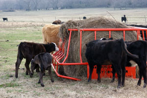 Square Bale Hay Conserving Hay Bale Feeder