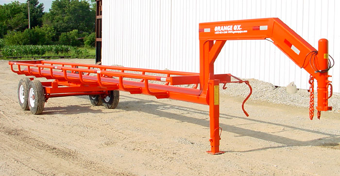 Orange Ox™ Self Un-loading Hay Trailers - GoBob Pipe and Steel