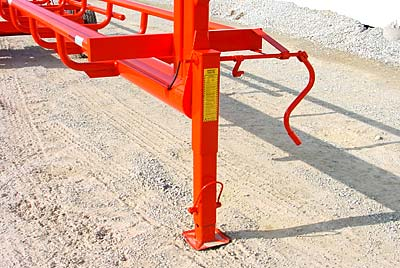 GoBob Pipe and Steel - Orange Ox - This pictures shows our 12,000 lb., spring loaded retractable jack