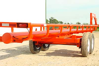 GoBob Pipe and Steel Orange Ox Notice the five foot wide main frame, constructed of 3 X 5 X ¼ box tubing. A bigger, stronger frame that is a full foot wider than many trailers.