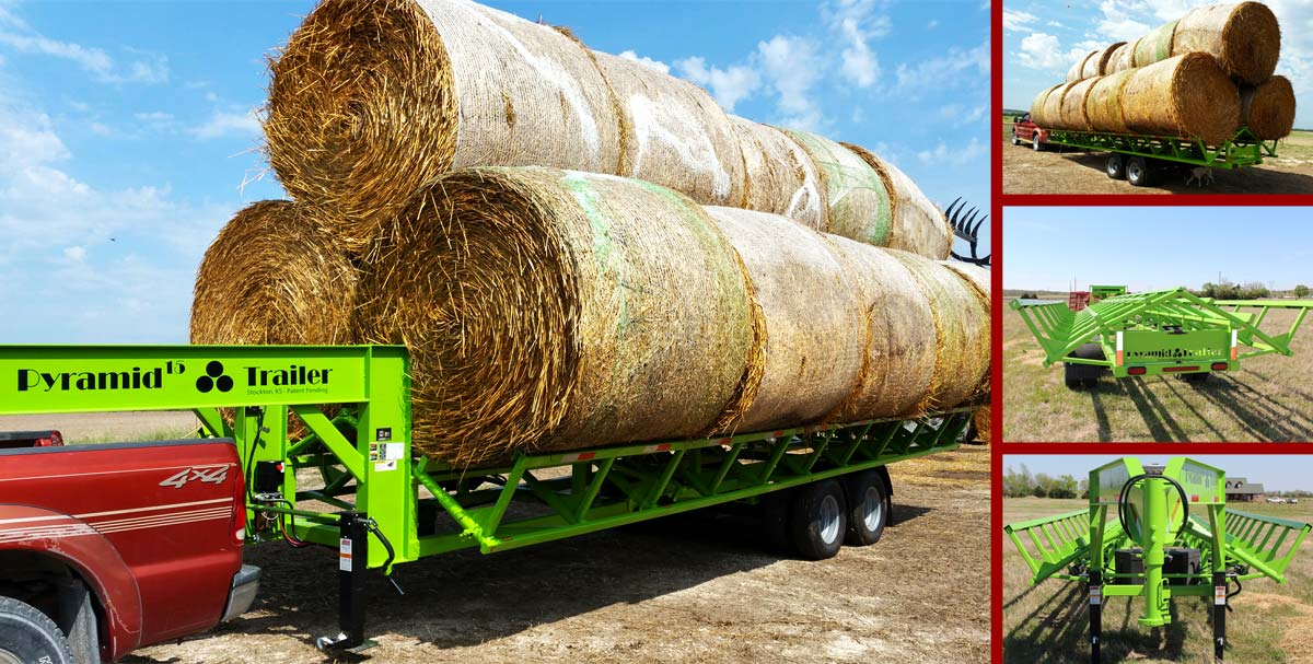 Pyramid Hay Bale Trailer - Hauls up to 27 Bales!